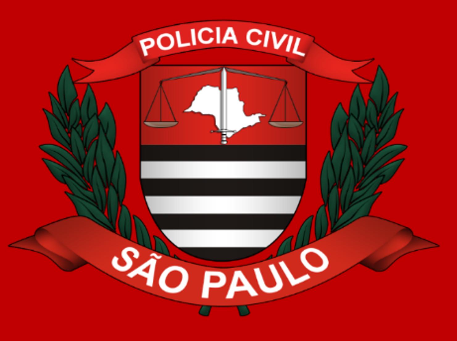 Brasão vermelho da Polícia Civil