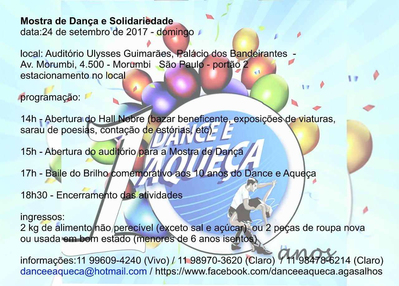 convite dança e aqueça
