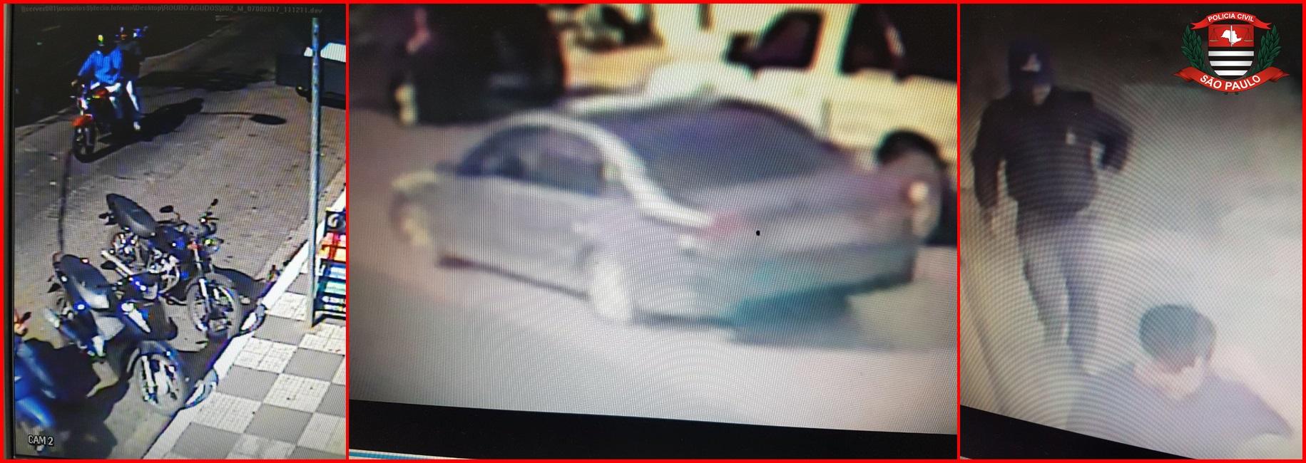 imagens das cameras de segurança mostram a ação dos criminosos